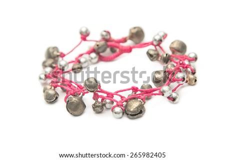 Handcraft beautiful bracelet - stock photo