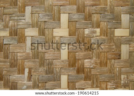 handcraft of bamboo weave pattern for background