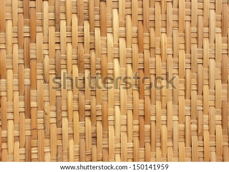 handcraft of bamboo weave pattern for background use - stock photo