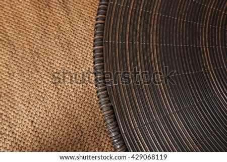 handcraft rattan and bamboo texture for background - stock photo