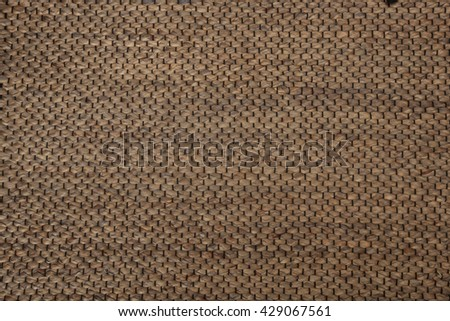 handcraft rattan woven texture for background - stock photo