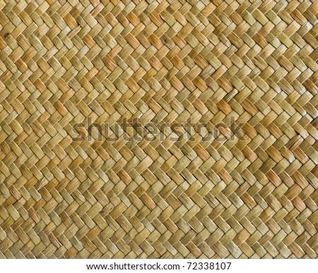 handcraft weave texture natural wicker - stock photo