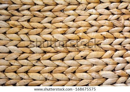Handcraft weave texture natural wicker. background - stock photo