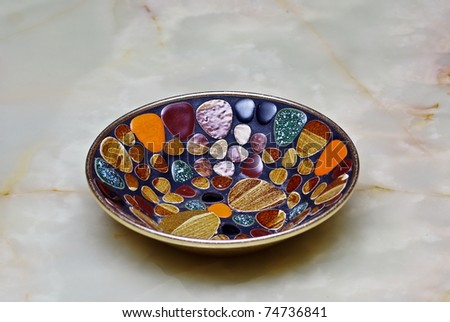 Handcrafted Decorative Plate - stock photo