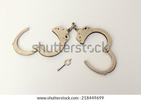 handcuffed  - stock photo