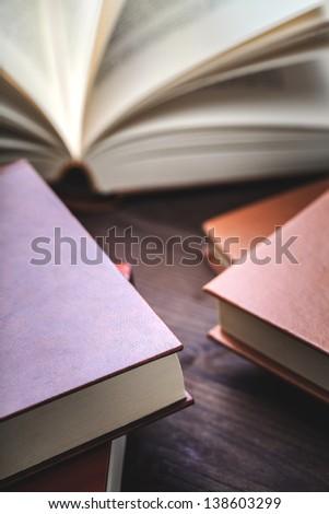 handful of books - stock photo