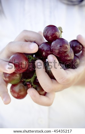 handful of grapes - stock photo