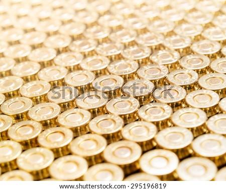 Handgun bullets background - stock photo