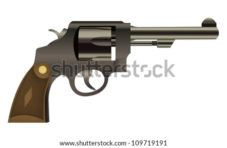 Handgun isolated on a white background