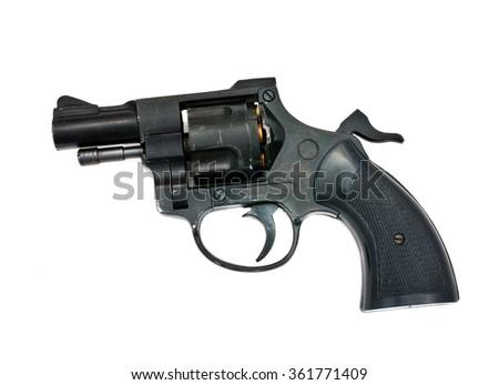 handgun isolated on the white background - stock photo