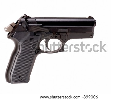 Handgun on white
