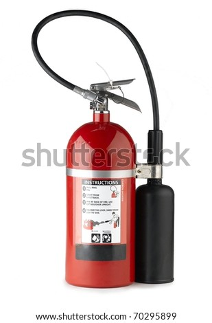 Handheld fire extinguisher more portable and convenience to use - stock photo