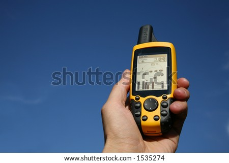 Handheld Global Positioning System Device - stock photo
