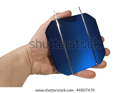 handheld solarcell - stock photo