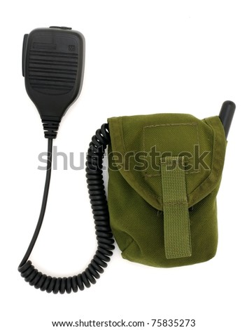 Handheld speaker mic used in military and police forces - stock photo