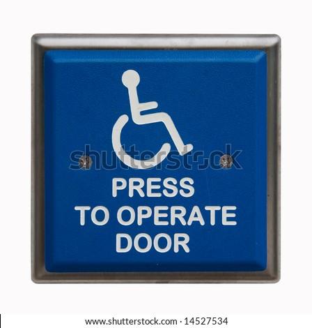 Handicap button - stock photo