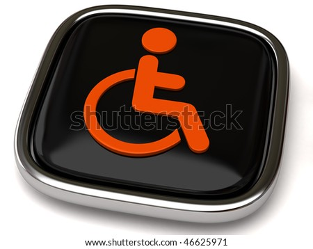 handicap icon - stock photo