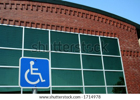 handicap office building access - stock photo