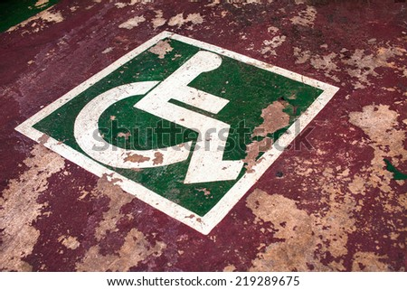 handicap parking - stock photo