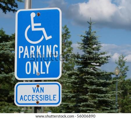 Handicap parking sign. - stock photo