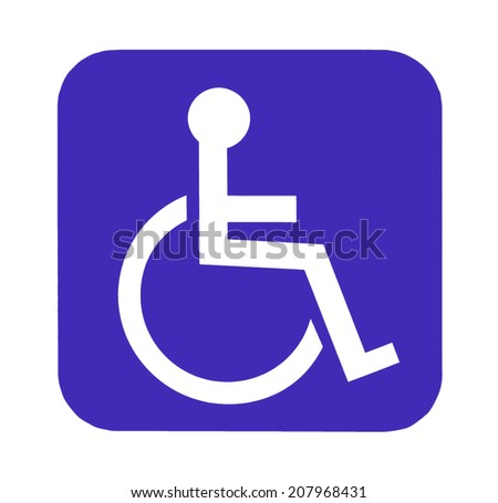Handicap sign for special toilet - stock photo