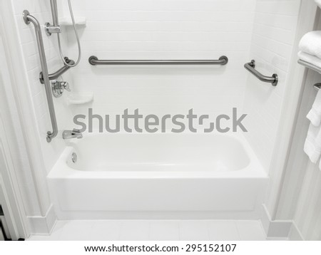 Handicapped Disabled Access Bathroom Bathtub Grab Stock Photo ...