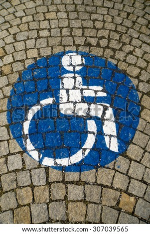 handicapped - disabled parking sign