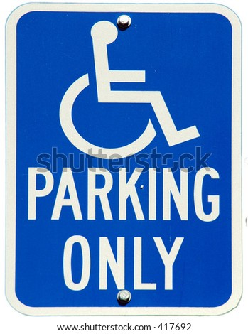 Handicapped Parking Only sign - stock photo