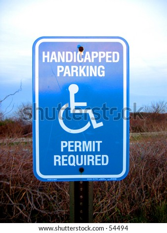 Handicapped Parking Sign