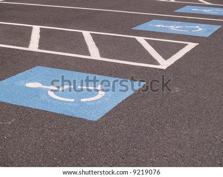 handicapped parking spot - stock photo