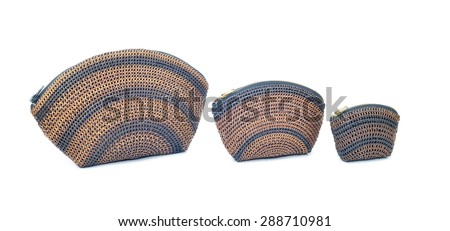 Handicraft handmade knitting bag.