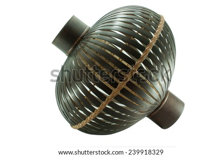 Handicrafts from bamboo - stock photo