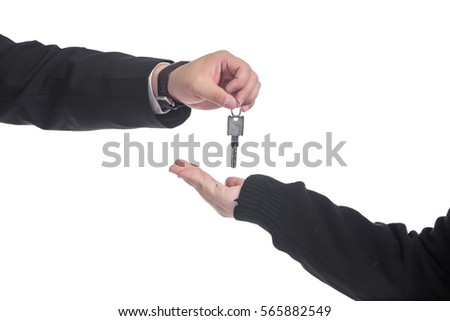Handing key from one hand to another