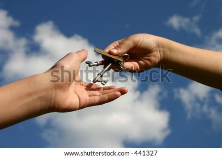 Handing over the Keys - stock photo