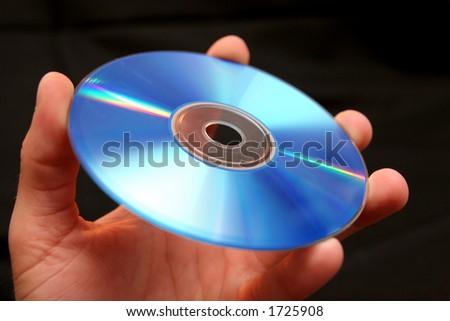 handle CD - stock photo