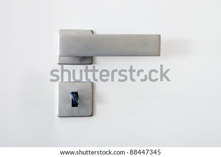 Handle, lock and key