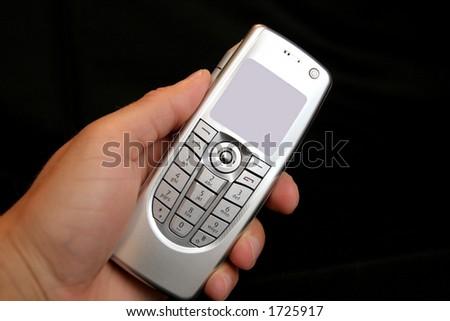 handle mobile phone - stock photo