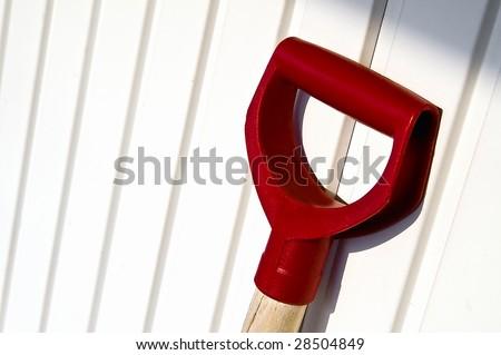 handle of a shovel - stock photo