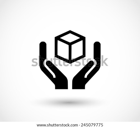Handle with care icon - stock photo