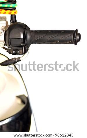 Handlebar motorcycle - stock photo
