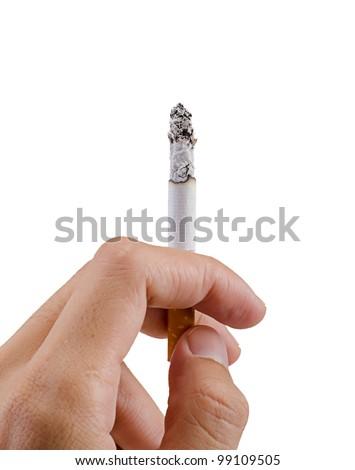handling of cigarette - stock photo