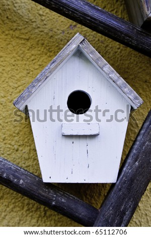 Handmade bird house, good for concepts of care and safety