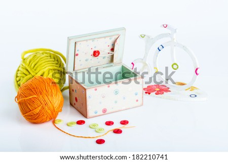 handmade box on a white background