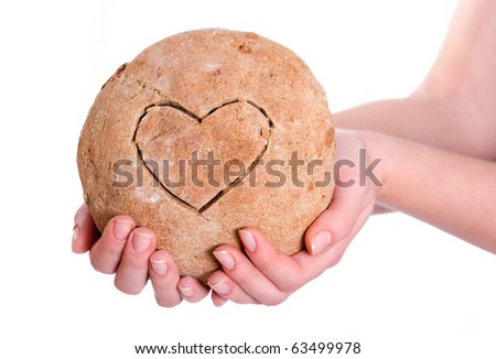 Handmade bread with a hard on it - stock photo