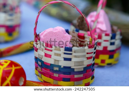 handmade candies in basket