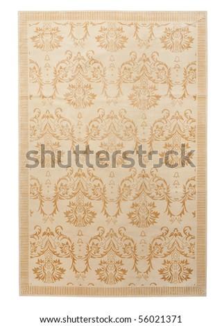 Handmade Carpet on a white background - stock photo