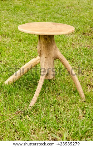 Handmade chair. Wood.  - stock photo