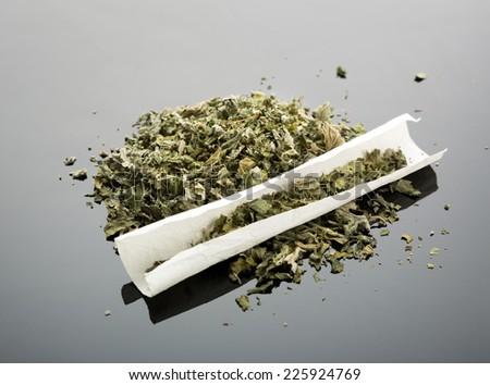 Handmade cigarette - stock photo