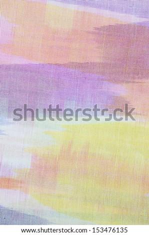 Handmade cotton table cloth. - stock photo