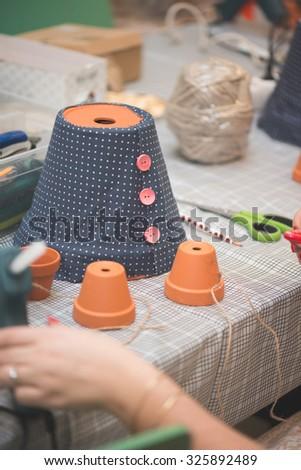 Handmade DIY decoration - stock photo